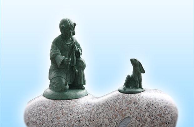 出雲神話モニュメント『オオクニヌシと白兎』2