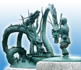 出雲神話モニュメント「スサノオのオロチ退治」3